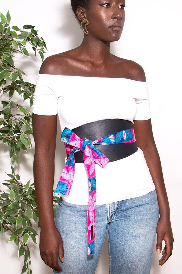 Pink-circles-obi-wraparound-belt